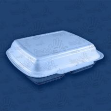 Box obiadowy styropianowy dwudzielny 50 szt.